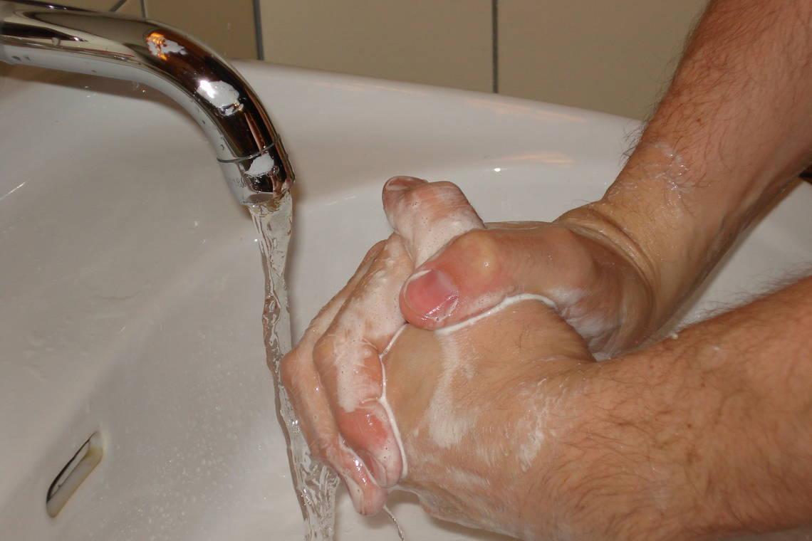 Hygieneschleuse Waschbecken